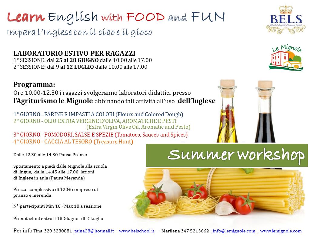 Ricette In Inglese Per Bambini.Laboratori Estivi Di Lingua Inglese Per Bambini Le Mignole