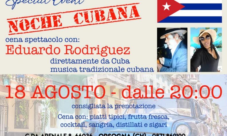 Serata d'autore: il fascino di Cuba esibizione di Eduardo Rodriguez